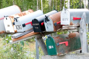 Briefkästen in Alaska
