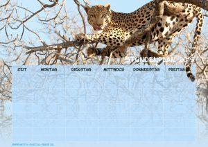 Stundenplan Leopard