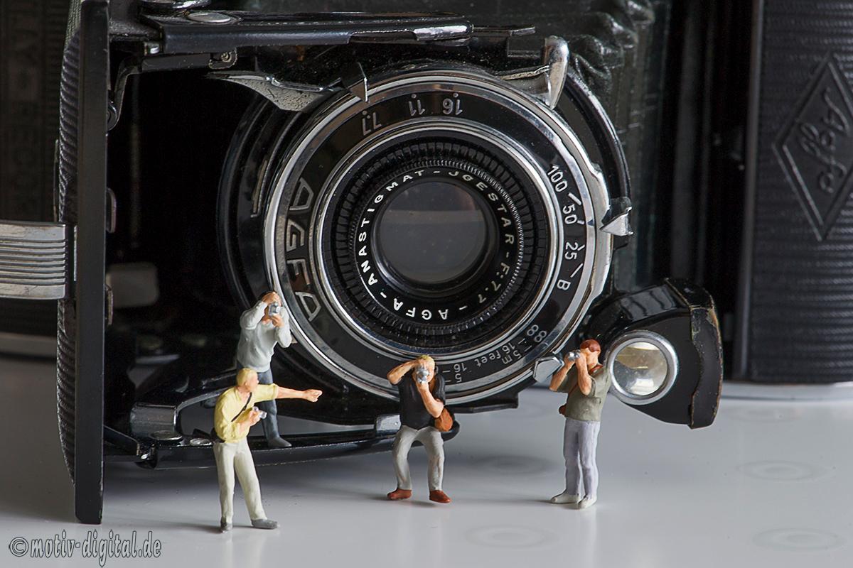 Studiofotografie - Miniaturwelten: Fotografen unter sich